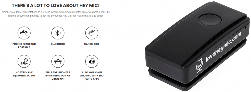 HeyMic Lapel Microphone For Superb Audio