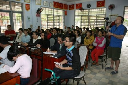 cerebral palsy conference in hue vietnam at a rehab hospital