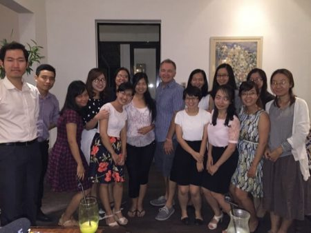 Speaking to the Hanoi Toastmasters Club in downtown Hanoi Vietnam August 2015