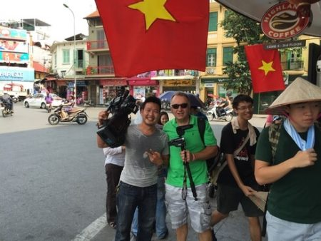 video-connects meets vtv hanoi downtown in vietnam