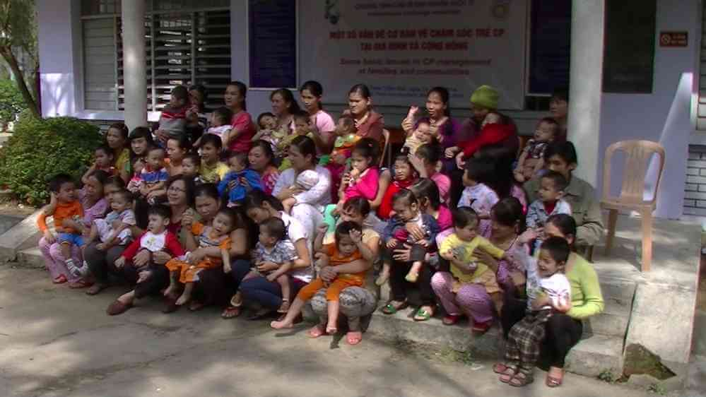 Graduating class of cerebral palsy workshop in Hue Vietnam facilitated by No Ordinary Journey Foundation of Calgary