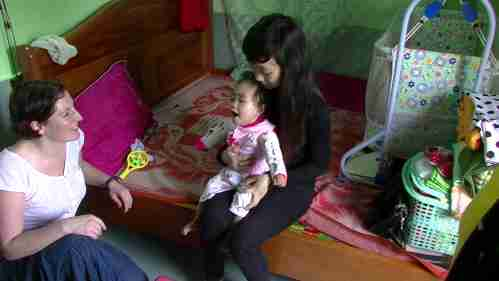 Volunteerism by doing home visits to children with cerebral palsy in Hue Vietnam March 2014